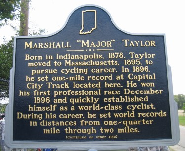"Marshall ""Major"" Taylor Indiana Historical Marker"
