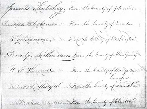 Signers of the Indiana Constitution of 1851