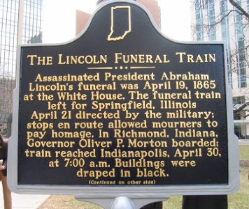 The Lincoln Funeral Train Historical Marker - Front
