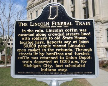 The Lincoln Funeral Train  Historical Marker - Back