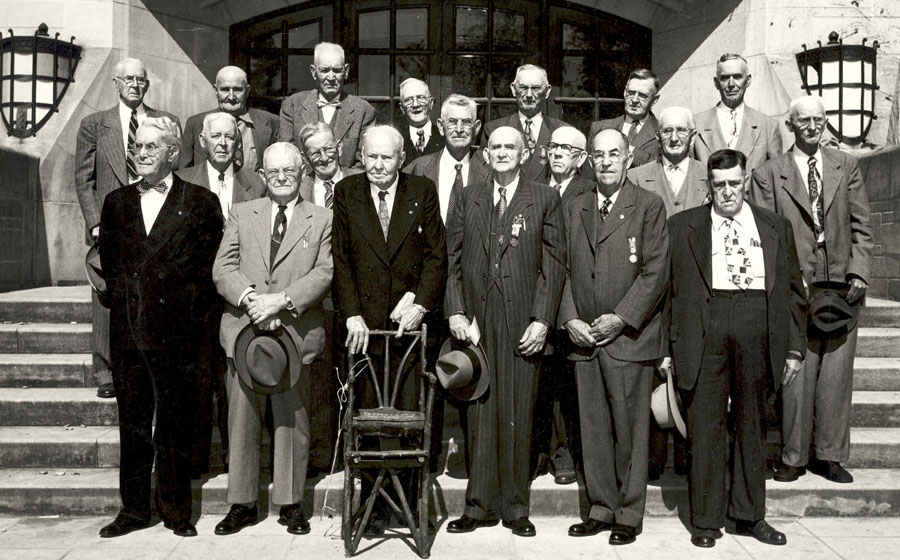 Members of the 159th Indiana Volunteers attend a Reunion, c. 1950's.