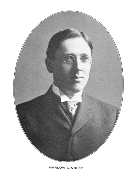 Harlow Lindley, Indiana's first State Archivist.