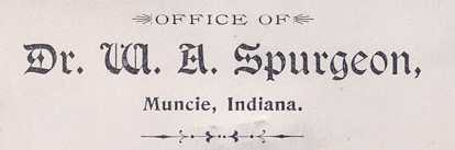 Medican License for Dr. W. A. Spurgeon