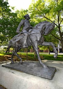 General Anthony Wayne's Equestrian Statue in Freimann Square.