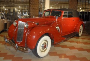 1938 Packard Twelve Convertible Victoria, graciously donated by Charles and Margret Blackman of Okemos, Michigan.