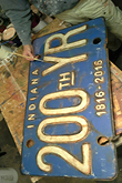 Giant Indiana 200th Year License Plate
