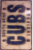 Giant South Bend Cubs License Plate
