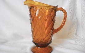 Cord Drapery (Pattern #350): Water Pitcher, Amber