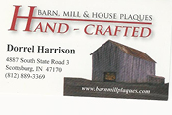 Handcrafted Barn, Mill & House Plaques