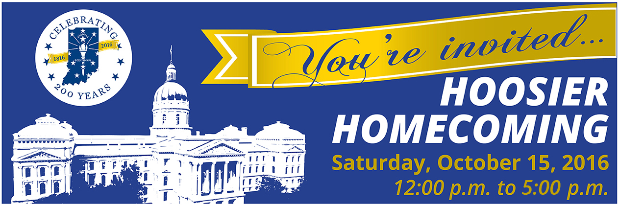 Hoosier Homecoming Banner