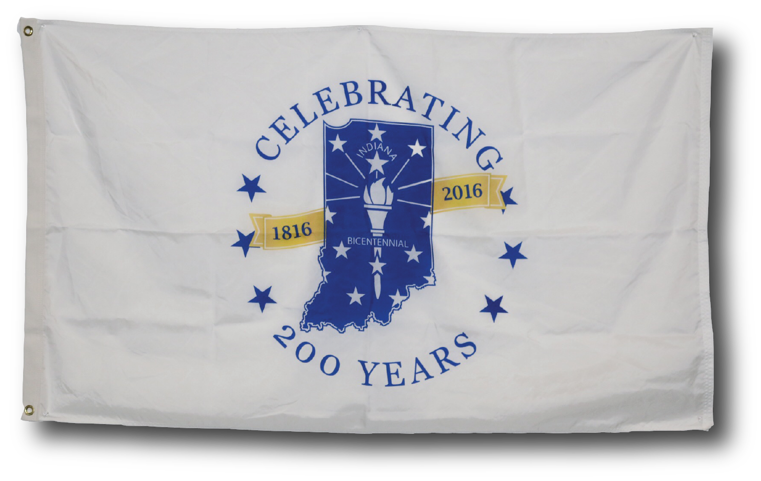 Indiana Bicentennial Commemorative Flag