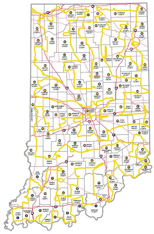 IBC Route - Map indiana