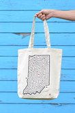 Indiana Maze Cotton Tote Bag