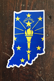 Indiana State Flag Sticker Hoosier Proud