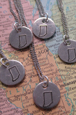Small Stamped Indiana Necklace