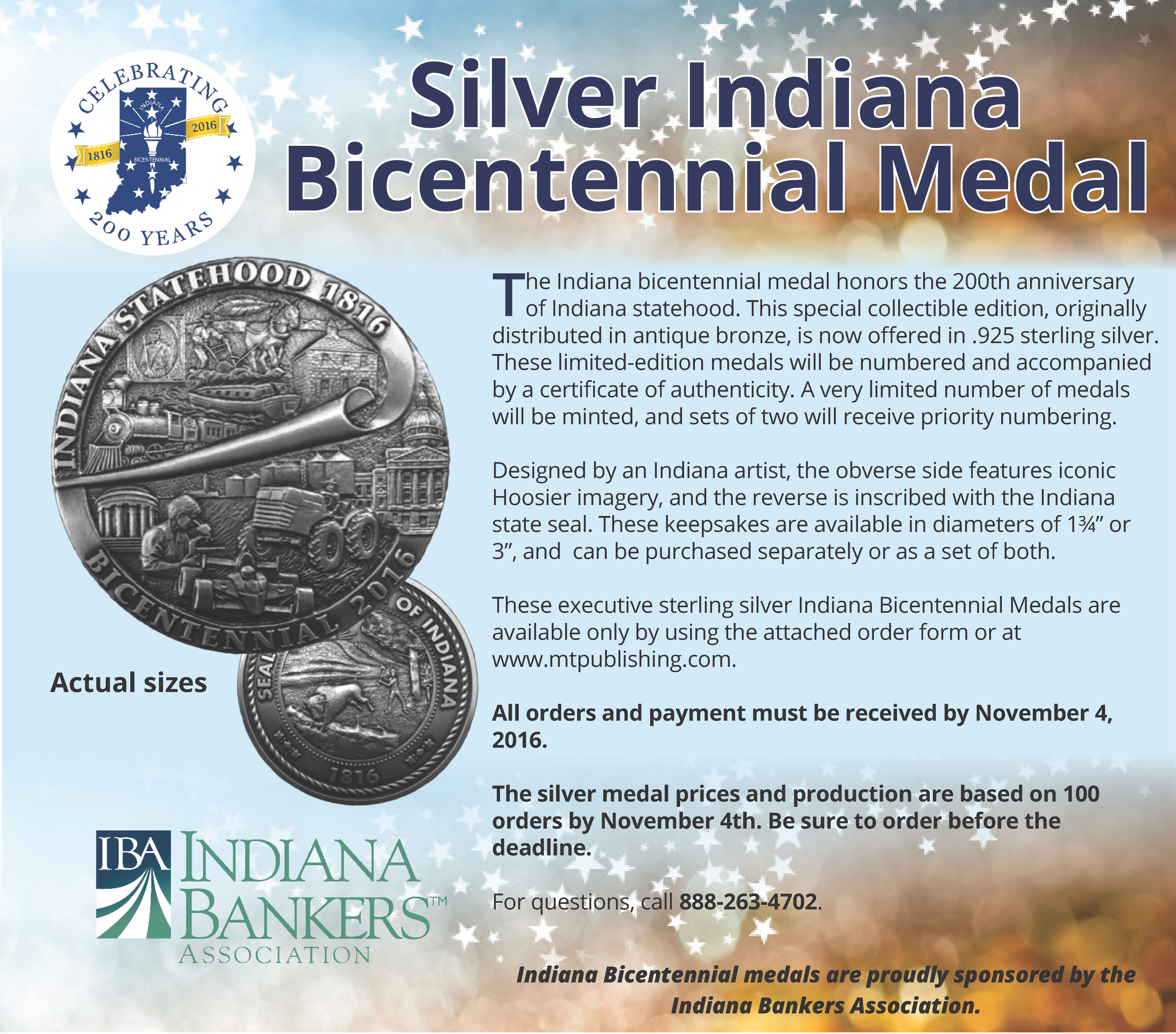 Bicentennial Medal Sterling Silver