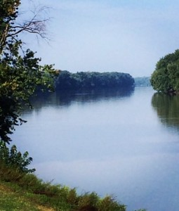 The Wabash River, Vincennes Indiana. Photo courtesy of Rene' Stanley.