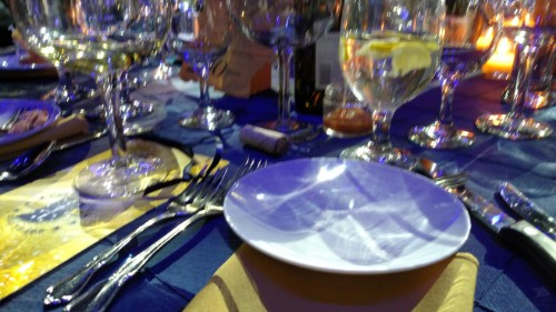 Table full of Dishes from the Bicentennial Gala