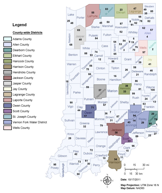 Idem Water Quality In Indiana Map Of Indiana Regional