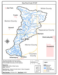 Big Pine Creek Map