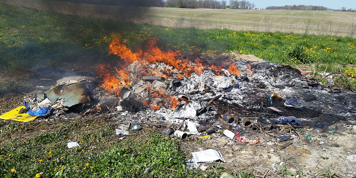 Burning Trash Is Illegal
