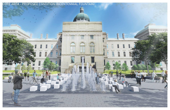 Core Area - Proposed Condition Bicentennial Fountain