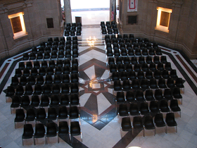 Statehouse Rotunda Set-Up