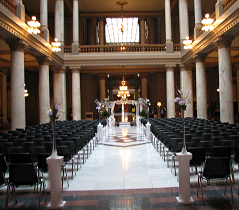 Idoa weddings events center statehouse atrium wedding the indiana statehouse junglespirit Gallery