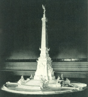 Bruno Schmitz plaster model of Indiana Soldiers and Sailors Monument. Courtesy Indiana State Archives