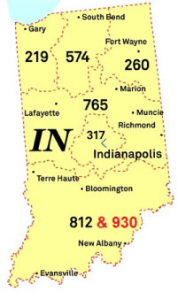 OUCC A New Area Code For Indiana - 260 area code